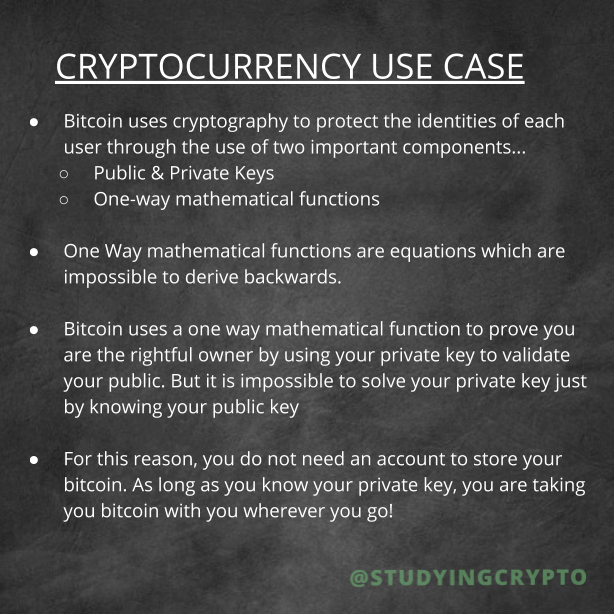 Cryptocurrency use case