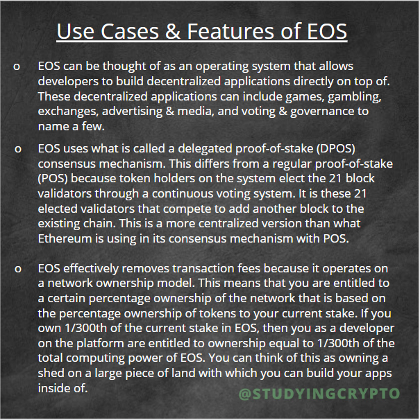 Use Cases & Features of EOS