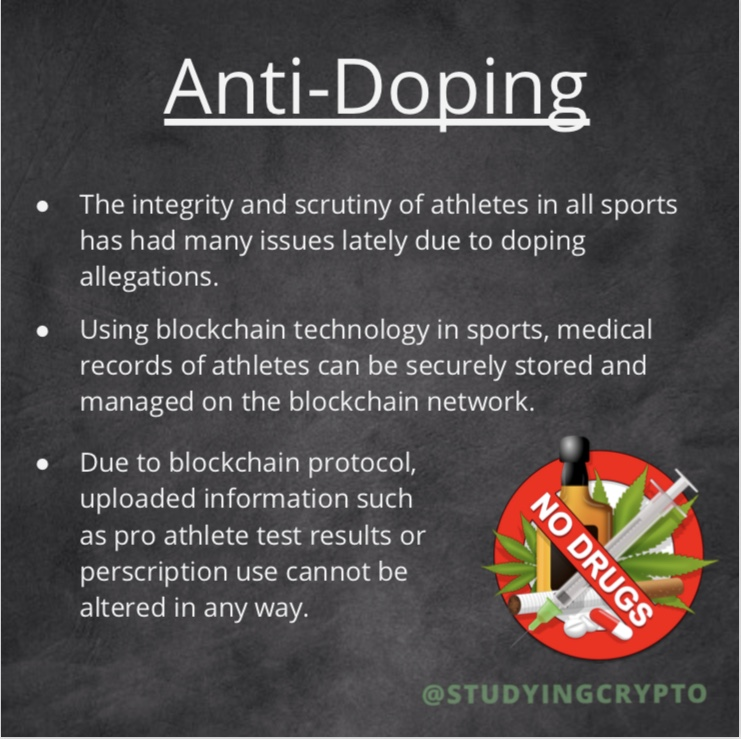 Blockchain Anti-doping